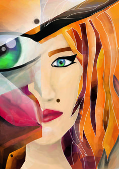 Digital painting 1 of 3 #art #digital #reflections #face