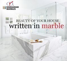 Beauty of your house written in #marble.