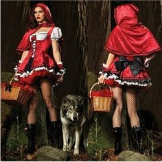 Just bought this Little Red Riding Hood costume for a Halloween party we're going to. My hubby is going to dress as the Wolf. lol <3