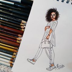 Na vibe do Slow Fashion @rayzanicacio  #draw #drawing #fashion #love…