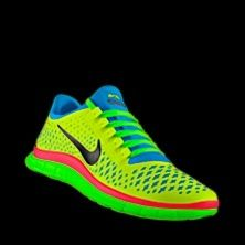 Neon Nikes, Neon Running Shoes, Running Shoes Nike, Nike Shoes Outlet, Cheap Nike, Nike Running, Bright Colors, Nike Free