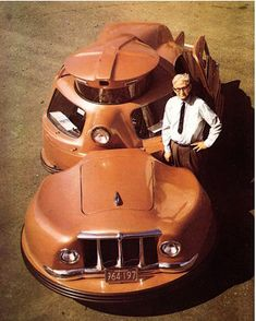 """Sir Vival"" (pronounced survival) was designed by WC Jerome, a Massachusets inventor, to be the 'safest car in the world'..."
