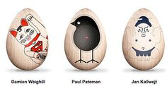 Eastern Eggs. Artist Decorated Wooden Eggs Whose Proceeds Aid Japan. - if it's hip, it's here