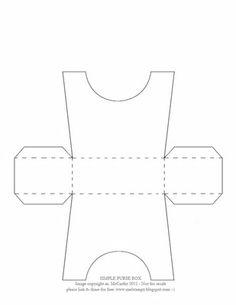 Mel Stampz New Simple Purse Box Templates Diy Paper Purses Printable Free