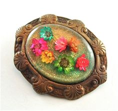 Victorian Brooch Romantic Vintage Jewelry Old World by kiamichi7, $32.00