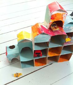 Build a house using milk cartons