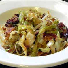 Fried Cabbage with Bacon, Onion, and Garlic Allrecipes.com