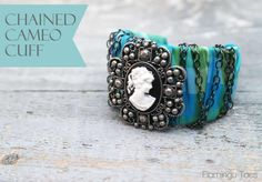 DIY Chained Cameo Cuff - Quick Bracelet