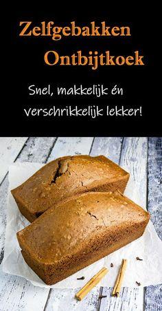 Een zelfgebakken ontbijtkoek is zoooo veel lekkerder dan die uit de supermarkt. Moeilijk? Nee hoor! Dit is een van de makkelijkste bakrecepten! En je maakt het beslag binnen een kwartier. #ontbijtkoek #peperkoek #hhb #zelfgebakken #gebak #ontbijt Dutch Recipes, Sweet Recipes, Baking Recipes, Cake Recipes, Dessert Recipes, Brunch, Beignets, True Food, Sweet Pie