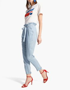 At Stradivarius you'll find 1 Flowing baggy jeans for just 19.99 Republic of Ireland . Visit now to discover this and more Trousers. Linda Summer, Republic Of Ireland, Pajama Pants, Trousers, Pajamas, Sweatpants, Jeans, Clothes, Women