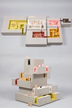 architecture - 20 Of Britain's Top Architects Reimagine The Dollhouse - Zaha Hadid, David Adjaye, and FAT reduce their creative egos to toy size – architecture - Concept Models Architecture, Architecture Model Making, Architecture Sketchbook, Architecture Graphics, Architecture Student, Classical Architecture, Architecture Plan, Interior Architecture, Parametric Architecture