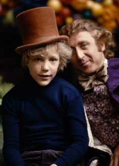BEHIND-THE-SCENES PHOTOS OF 'WILLY WONKA & THE CHOCOLATE FACTORY,' 1971 ~ Gene Wilder and Peter Ostrum