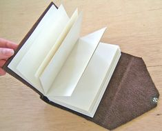 How to make your own leather bound journal- extremely detailed with great photos