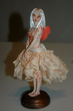 Yuzuki - Polymer clay OOAK fairy sculpture by Tatiana Canini