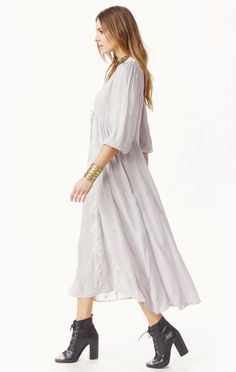embroidered dress by FREE PEOPLE