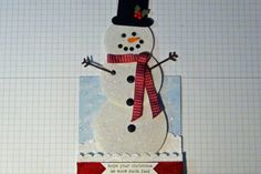 Telescoping Snowman Card Tutorial