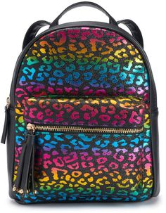 b006372eaf0d Omg Accessories OMG Accessories Glitter Rainbow Leopard Mini Backpack. Mini  BackpackBackpacksFashion ...