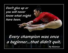 "Gymnastics Wall Art Daughter Wall Decor Motivation Poster Aly Raisman Gymnast Decor Gift Gym Art Print Gymnast 5x7"", 11x14"" Don't Give Up by ArleyArt on Etsy"