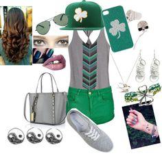 """Green! Irish!"" by lucyydobbin ❤ liked on Polyvore"