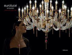 Julienne  (Pendenti ed elementi decorativi realizzati a mano finitura oro 24K e arricchiti con cristalli Swarovski®)