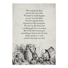 Vintage Alice in Wonderland Gift Poem