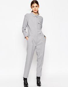 ASOS+Shirt+Detail+Jumpsuit
