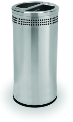 20 Gallon Stainless Steel Recycling Trash Can Garbage Can 745829 - outdoor & indoor trash cans, recycle bins, & ashtrays for commercial, office or home.