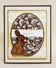 WT261 Chocolate Egg and Bunny by sleepyinseattle - Cards and Paper Crafts at Splitcoaststampers