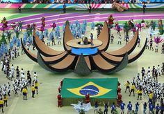 Brasil 2014: con música, baile y color se inauguró el torneo  (Foto: EFE)