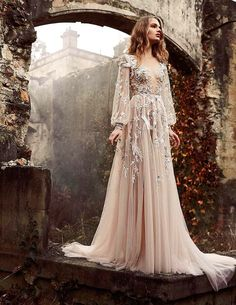 Stop, Drop & Vogue by Taylor Aube — Paolo Sebastian Haute Couture Spring/Summer 2015 Bridal Gowns, Wedding Gowns, Wedding Cards, Ethereal Wedding Dress, Fairy Wedding Dress, Prom Dresses, Formal Dresses, Flowy Dresses, Evening Dresses