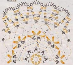 Kira scheme crochet: Seven wonderful scheme Free Crochet Doily Patterns, Crochet Doily Diagram, Filet Crochet, Crochet Motif, Crochet Round, Crochet Home, Crochet Sunflower, Crochet Dollies, Crochet Tablecloth