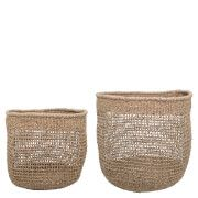 #Bloomingville Seagrass Baskets - Set of 2 #The Bloomingville Seagrass Baskets will add storage to a room without adding clutter. The natural seagrass woven baskets are highly versatile and will look attractive in any room. With a variety of uses, the baskets can be used all over the home as they are suitable for remotes, books and magazines; for crafting and hobby materials and can be used to organise your bathroom essentials. The decorative pair have a myriad of uses and will look stylish…