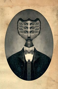 Jeffrey Harp, Victorian Surrealism series, Lord Of Illusions Blog Art, Unusual Facts, Lowbrow Art, Glitch Art, Pop Surrealism, Eye Art, Surreal Art, Photomontage, Medium Art