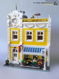 Random musings on life & adventures with Lego bricks Lego Village, Lego Furniture, Minecraft, Lego Christmas, Amazing Lego Creations, Lego Activities, Lego Blocks, Lego Modular, Lego Worlds
