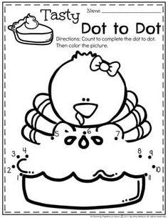 Thanksgiving Pie Dot to Dot Preschool Worksheets for November. Thanksgiving Activities For Kindergarten, Thanksgiving Worksheets, Thanksgiving Activities For Kids, Fall Preschool, Preschool Worksheets, Kindergarten Age, Toddler Activities, Preschool Activities, Toddler Worksheets