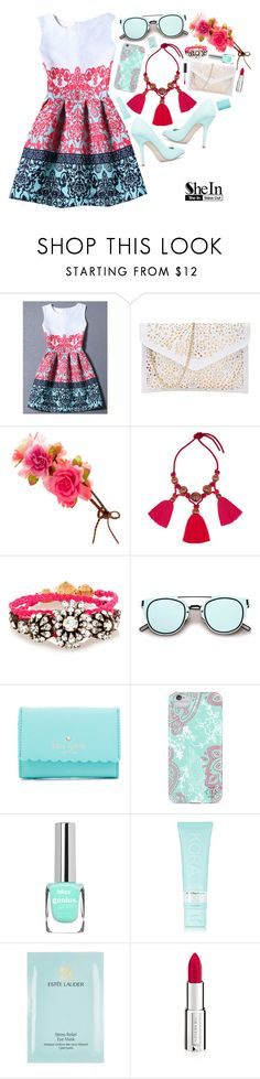 """Shein contest entry"" by design-it-look ❤ liked on Polyvore featuring Accessorize, Lanvin, Shourouk, Kate Spade, Nanette Lepore, KORA Organics by Miranda Kerr, Estée Lauder, Givenchy and Ciaté"
