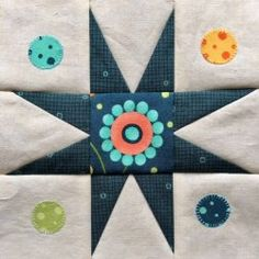 Block 72 designed by Victoria Findlay Wolfe: First Circle Star