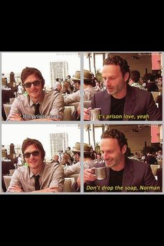 Prison ❤love. Lol I'd ship the Daryl/Rick.....Darick