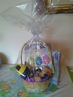 Boys easter surprise basket