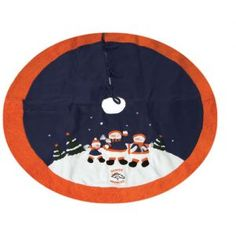 "CC Sports Decor 48"" NFL Denver Broncos Snowman Family Christmas Tree Skirt"