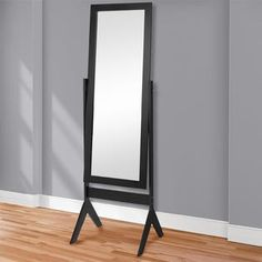 BestChoiceproducts Best Choice Products Cheval Floor Mirror Bedroom Home Furniture- Black