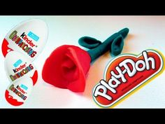 Making Play-Doh Red Rose and Opening Kinder Surprises - Eggs and Toys TV