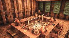 Post with 5330 views. Casa Viking, Viking Hall, Base Building, Building Art, Ark Survival Evolved Bases, Ark Craft, Homework Planner, Medieval, Conan Exiles