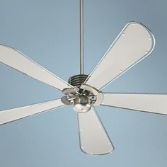 """60"""" Quorum Dragonfly Collection Nickel Finish Ceiling Fan"""