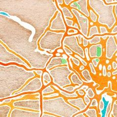 """How cool: you type in an address or city, and this website generates a watercolor """"painting"""" of it."""
