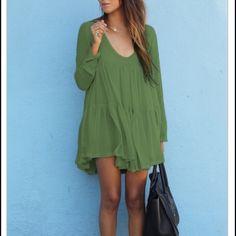 Green dress Brand new green dress Dresses Long Sleeve