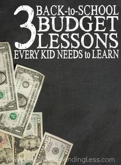 Back-to-school time can be stressful, especially when money is tight, but it can also be a great opportunity to teach your kids how to manage their finances! Don't miss these 3 back-to-school budget lessons every kid needs to learn, and start the school year out on the right foot!