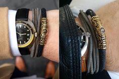 FACA 18k Gold Bracelet with Black Leather @facaintlaffair
