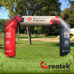 Event advertising inflatable arch with full digital print. Europe's leading manufacturer of inflatable advertising REATEK. Logo Shapes, Bouncy Castle, Indoor Playground, Corporate Branding, Finish Line, Design Your Own, Digital Prints, Arch, Advertising