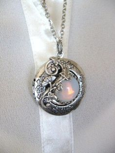 THE ORIGINAL Moonlit Forest LOCKET Enchanted Forest Locket Antique Locket Moon Moon Jewelry Tree Jewelry on Etsy $23.00